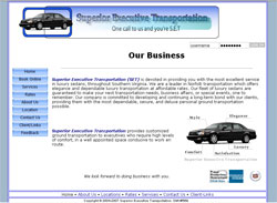 Superior Executive Transportation Website